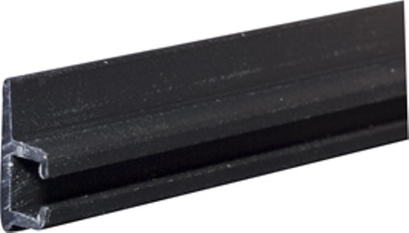 3110 Plastic Curtain Track Colored Black