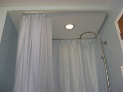 Shower Curtain Track Using 4108 Bendable Curtain Track