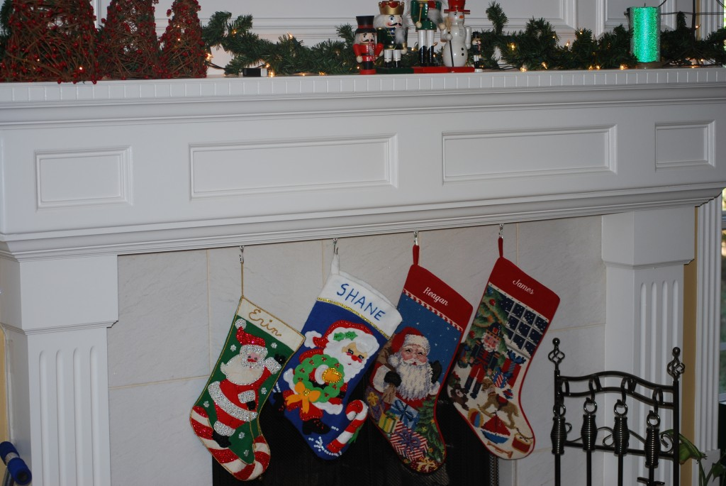 Sliding Hooks to Hang Christmas Stockings on Mantel