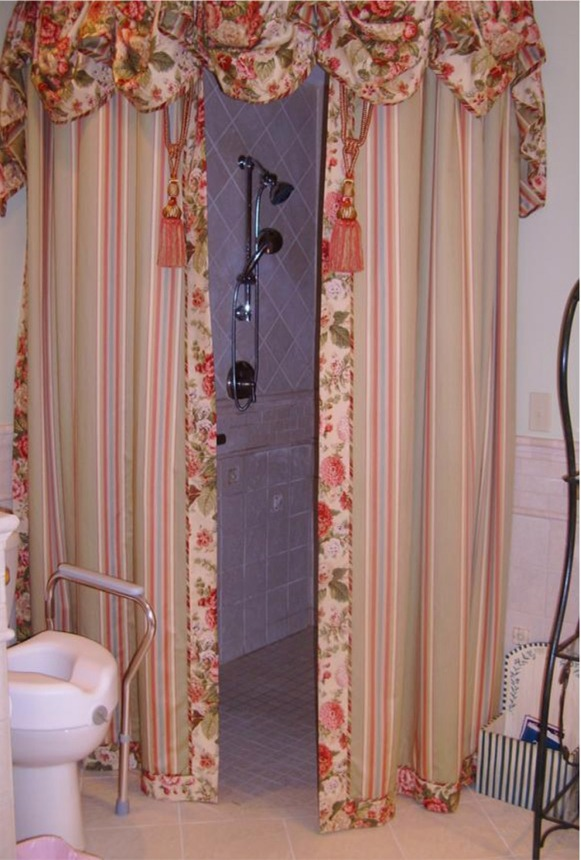Round Shower Curtain Track In Handicap Accessible