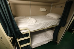 Berth Curtains in Living Quarters on Ship