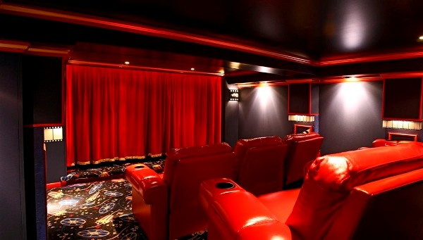 Home-Theater-Curtains-Red-Sofa