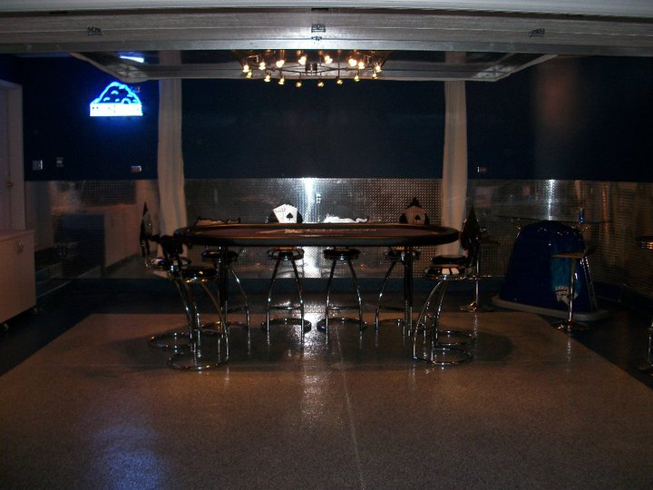 Man Cave Poker Garage Conversion