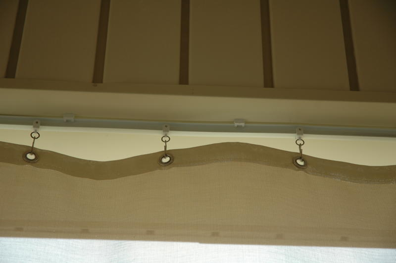 Grommets used to make outdoor curtain