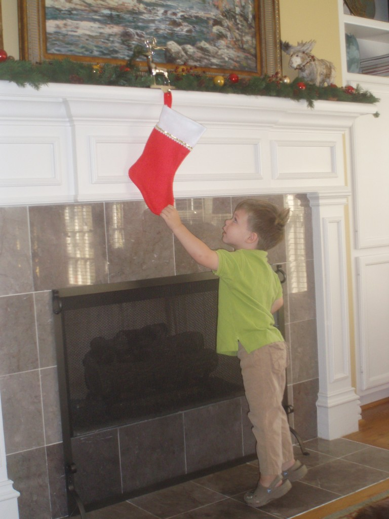Christmas Stocking Hooks eliminate danger of heavy stocking hangers