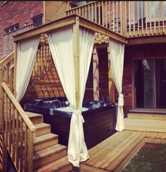 But If You Have An Outdoor Hot Tub Just May Want A Little Bit Of Privacy From Your Next Door Neighbors Curtain Tracks Can Help