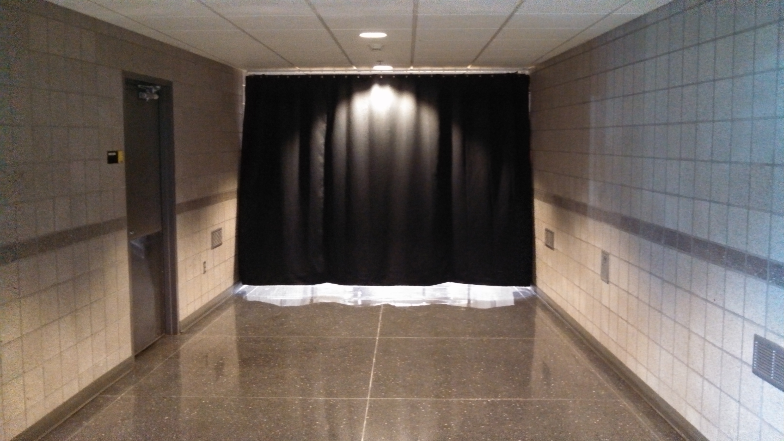 adding curtain tracks in a concert venue - Ceiling Curtain Track