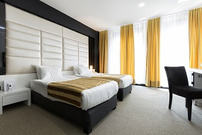 Drapes in Modern Hotel Guest Suite
