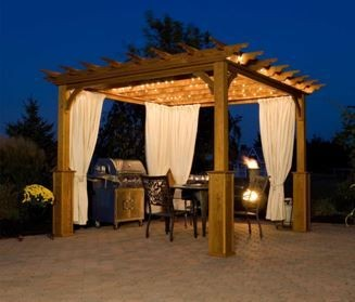 Have A Vacation In Your Own Backyard With Pergola Curtains