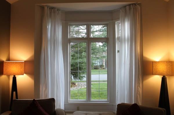 Industrial Window Treatments Living Room