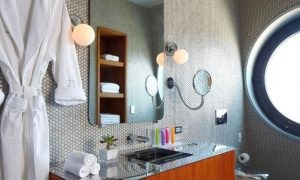 Create an Upscale Shower with Curtain Tracks