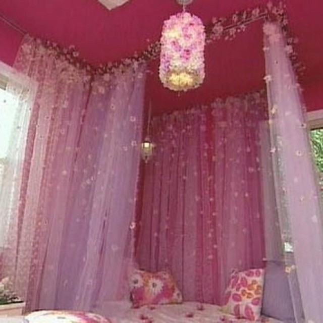Create a Fairytale Bedroom With Curtain Tracks