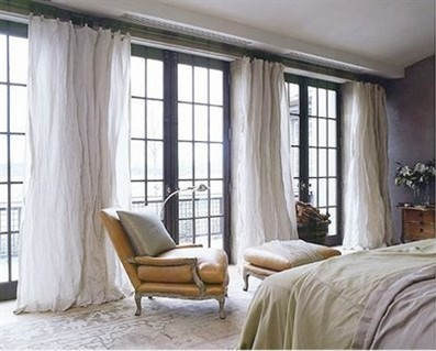 Warm Up Your French Doors With Curtains