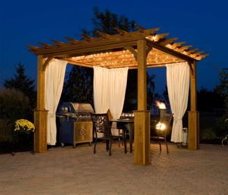 Create A Luxurious Oasis With Pergola Curtains