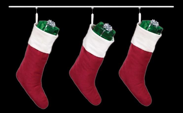 Adjustable Christmas Stocking Hooks